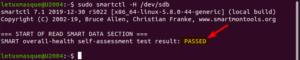 Information santé d'un disque dur sous Linux avec smartctl