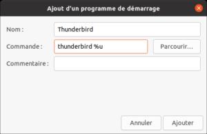 Ajout application au démarrage de Ubuntu