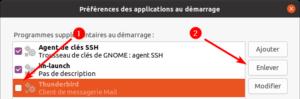 Désactiver une application au demarrage sur Ubuntu