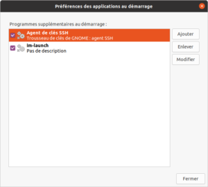 Ubuntu - liste des applications au démarrage