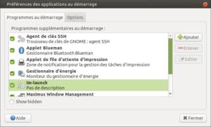 Liste des applications au demarrage de Ubuntu Mate