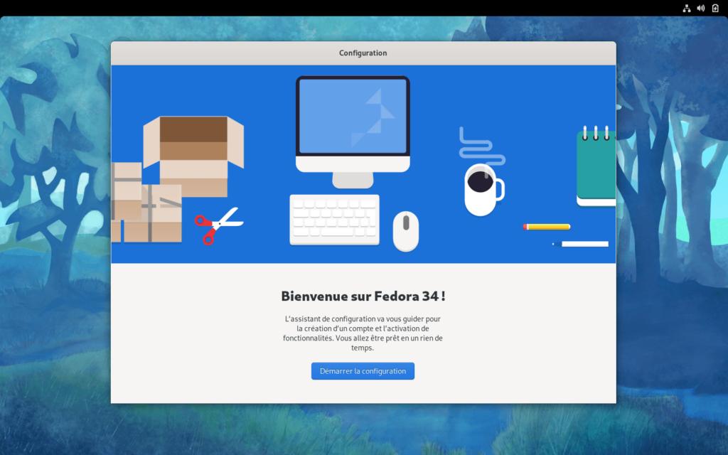 Bienvenue dans Fedora 34
