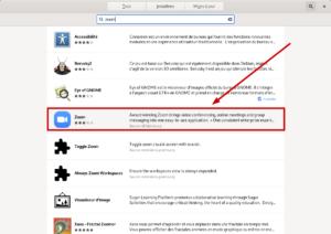 Flatpak zoom dans Gnome Software sur Debian