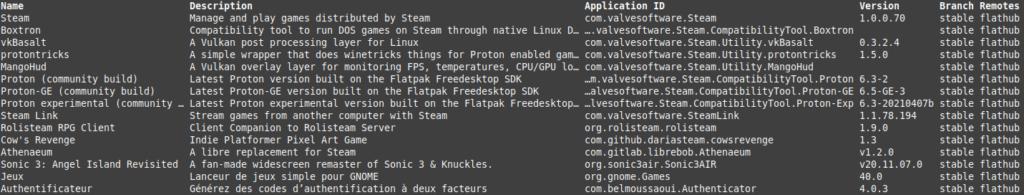 Linux Mint - extension steam sur le flathub