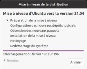 Préparation mise à niveau vers Ubuntu 21.04 Hirsute Hippo