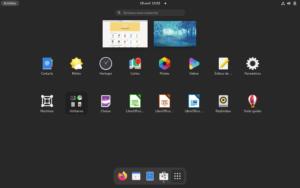 Menu applications Fedora 34