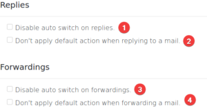 signature switch - preferences misc - replies forwardings