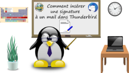 Comment insérer une signature à un mail dans Thunderbird