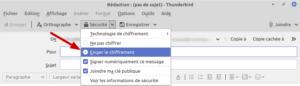 Thunderbird - chiffrer mail envoyé