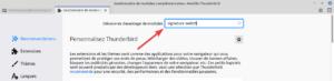Thunderbird - recherche de l'extension signature switch