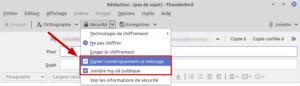 Thunderbird - Signer numériquement un mail