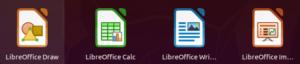 Icônes des applications LibreOffice dans Ubuntu 20.04