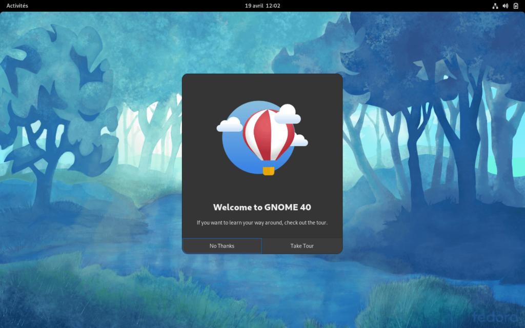 Bienvenue GNOME 40 dans Fedora 34