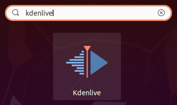 lanceur kdenlive sur Ubuntu