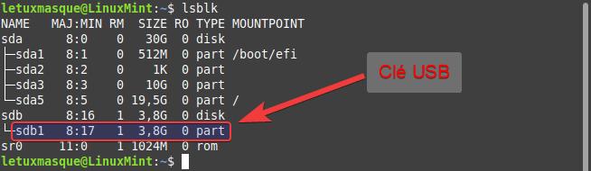 linux mint lsblk