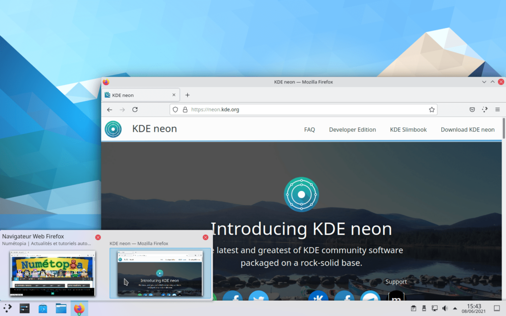 Infobulle application survolée dans KDE Plasma 5.22