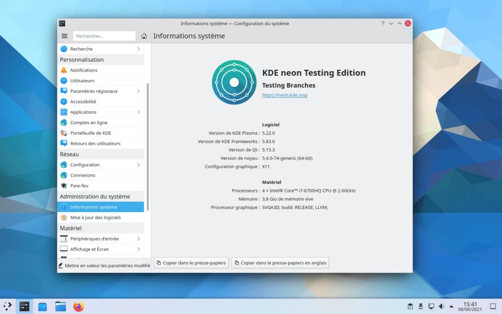KDE Plasma 5.22