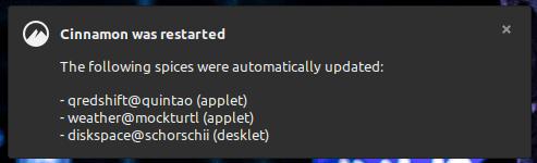 notification maj spices
