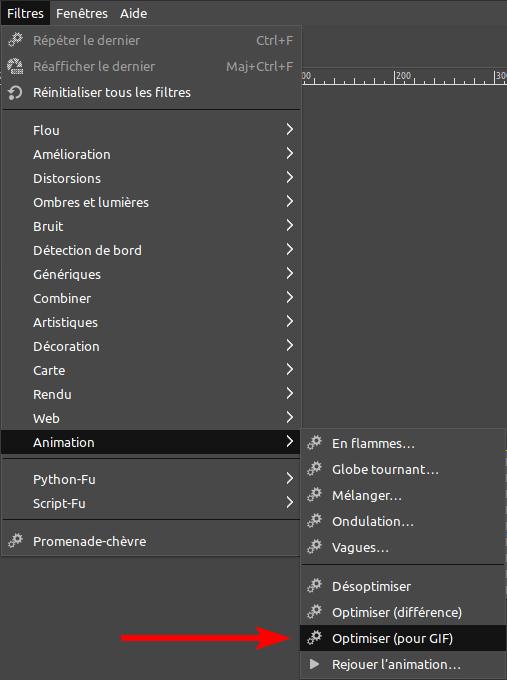Gimp - optimiser pour GIF animé