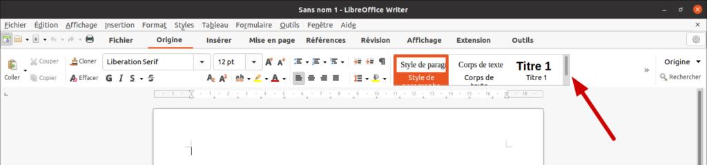 LibreOffice 7.2 - méta-barre