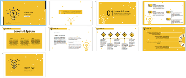 yellow idea impress template