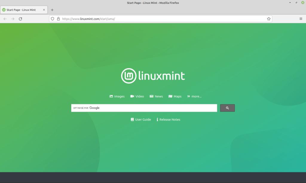 Nouvelle page d'accueil par defaut dans Firefox dans Linux Mint